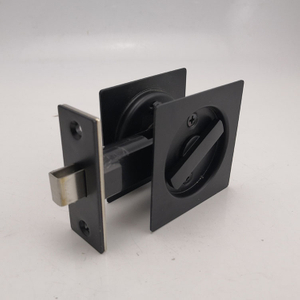 black Stainless Steel 304 square Sliding Door Lock