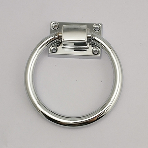 Zinc Alloy Chrome Polished Round Ring Handle Chair Cintura ring