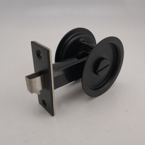 Black round Sliding Door Lock Privacy Lock