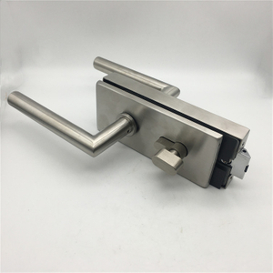 Stainless Steel Door Lock Satin Nickel Finished Glass Door Lock Lever Security Door Lock