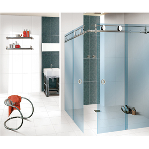 stainless steel sliding frameless sliding shower roller glass folding door hardware fittings