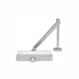 Silver Lightweight Commercial Door Closer Size 4 W/Fitting Template - Regular Top Jamb Or Parallel Installation Door Closer