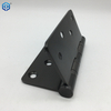 4 Inch Matte Black And Gun Black Stainless Steel Door Hinges Radius Corners