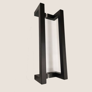 Black Square Stainless Steel Glass Door Pull Handle