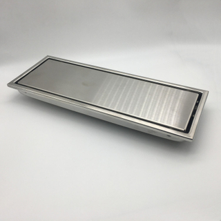 Long square stianless steel floor drain