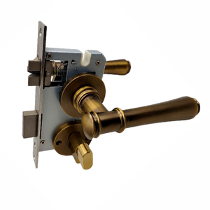 AB Hollow Style Brass And Zamak Door Handle Lock Classical Style
