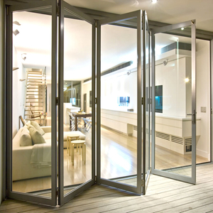 High quality aluminum alloy glass folding door with customized