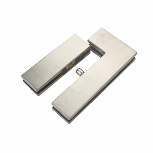 304 Stainless Steel Material Aluminum Alloy Glass Clamp Door Hinges Glass Fitting Patch Fitting