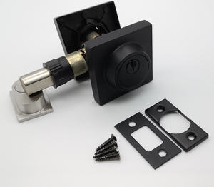 Square Black Zinc Alloy Double/Single Cylinder Deadbolt Door Lock