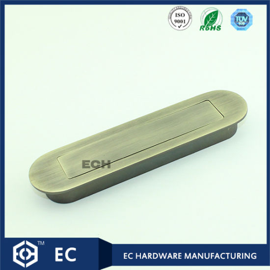 Zinc Alloy Round Concealed Furniture Handle with Spring (UP-4012)