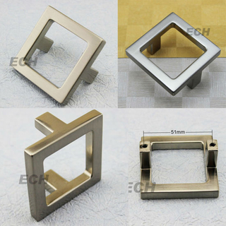 New Style Zinc Alloy Square Sn Furniture Handle (FHE173)