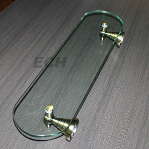 Brass and Glass Shelf Bathroom/Glass Shelf (GHT78022)