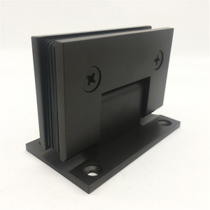 Stainless Steel Fancy Satin Finish Black Color Bathroom Hinge Glass To Wall Glass Shower Door Hinge