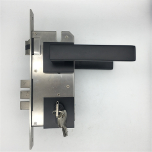 American Model Heavy Duty stainless steel Residential Passage Black Painted Door Handle Lock Cerradura Leverset