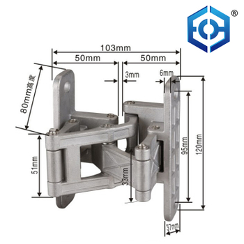 New Design 2way Stainless Steel Hidden Door Hinge Concealed Hinge