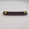 Brass Leather Door Handles for Cabinet Wardrobe Cupboard Drawer Pull Knobs