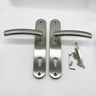 SSS stainless steel plate door lock handle