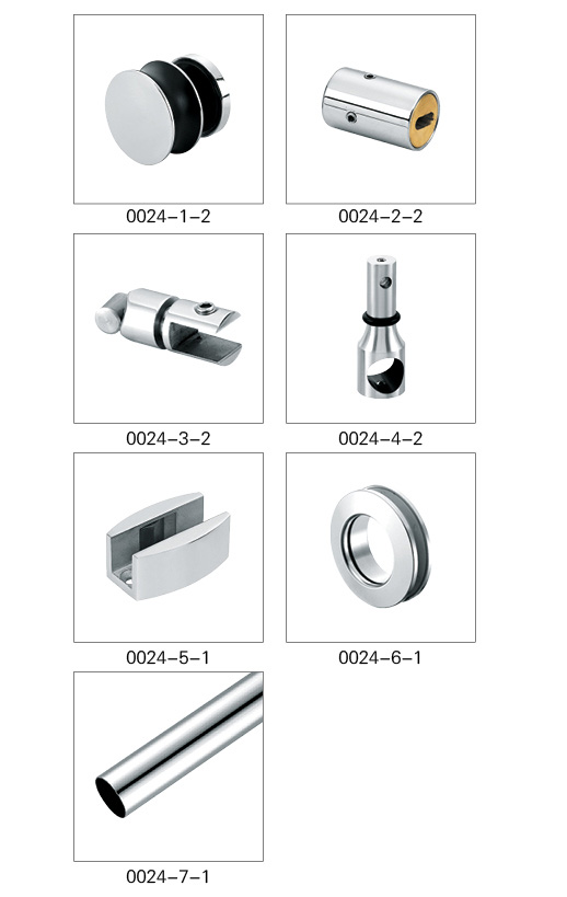 stainless steel Sliding Door Accessories Shower Glass Door Fittings for 8-12mm Glass