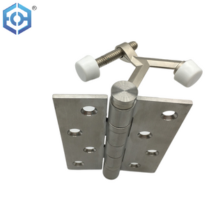 House Design Casting Zinc Alloy Adjustable Deluxe Hinge Pin Door Stop with Rubber Bumper