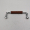 Kitchen Equipment Zinc Alloy And Leather Furniture Handles Cabinet Handle Washroom Handle Refrigerator Handle