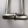 Silver SSS Stainless Steel Door Hardware Round Rube Exterior Long Glass Door Pull Handles