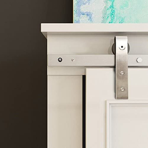 Satin Nickel Stainless Steel Mini Sliding Barn Door Hardware for Cabinets