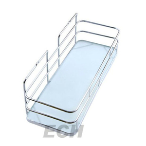 Stainless Steel Bathroom Decorative Glass Shelf (GHY-8977)