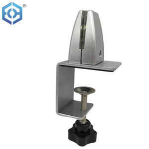 Office Workstation Aluminum Alloy Glass Panel Clamp Railing Glass Shelf Corner Holder Clip