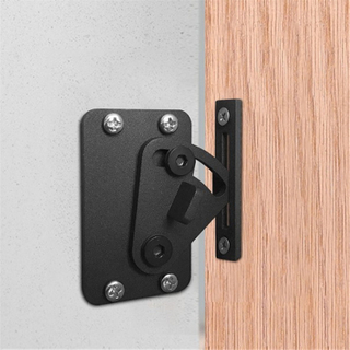 Black Carbon Steel Sliding Barn Door Hardware Slide Bolt Latch Lock for Wooden Doors