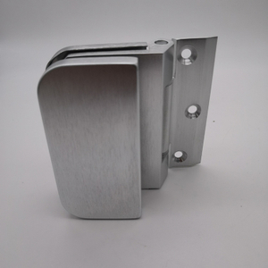 Silver Small Size Aluminum Door Hinge For Showroom Glass To Wall Glass Door Clip