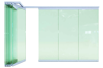 Soundproof Acoustic Folding Movable Partition Fabric Sliding Doors