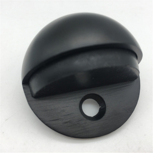 Black Stainless Steel 304 Rubber Hemisphere Door Stoppers For Metal Door Accessories