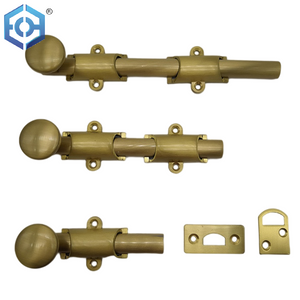 traditional style surface door bolt in solid brass finish PVD