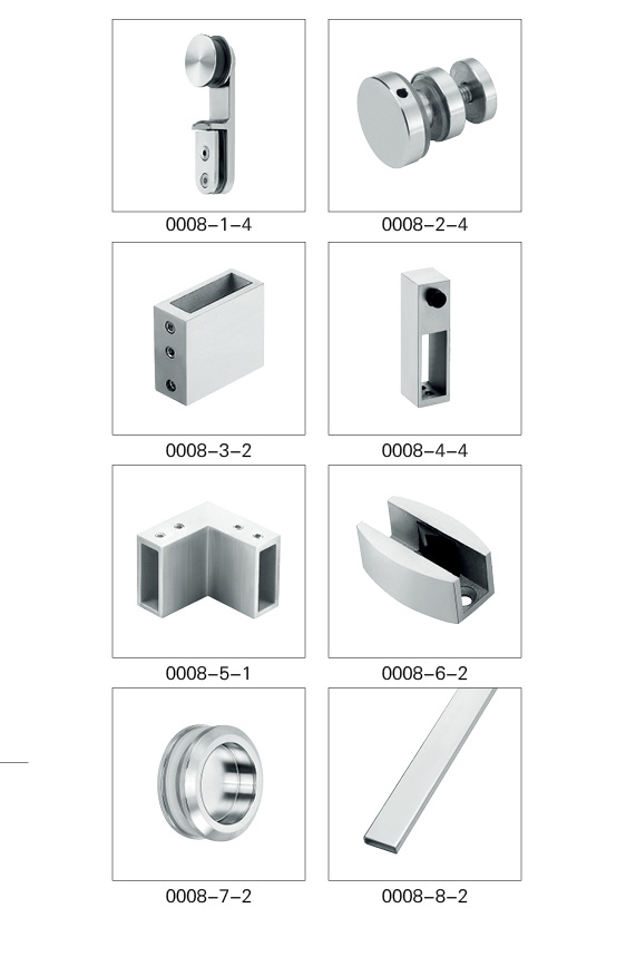 stainless steel sliding glass door rollers Bathroom hardware fittings