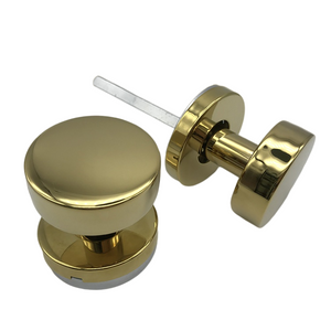 Golden PVD Stainless Steel Hollow Door Knob for Wooden Door