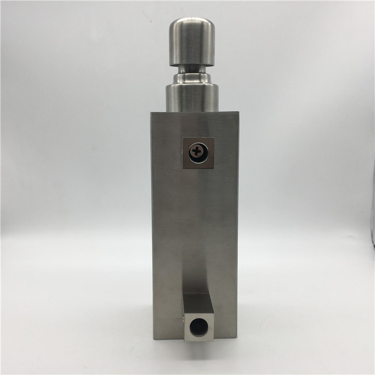 Silver Stainless Steel Hotel Wall Mount Liquid Hand Single Soap Dispenser