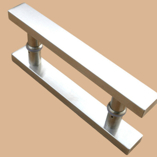 SSS Stainless Steel square large morder pocket door hardware rustic door pull handles