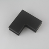Black Glass Hardware Fitting Manufacturer Small L Glass Patch Fitting