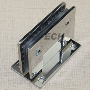 China Supplier Bathroom Series Stainless Steel Clamping Hinge for Glass