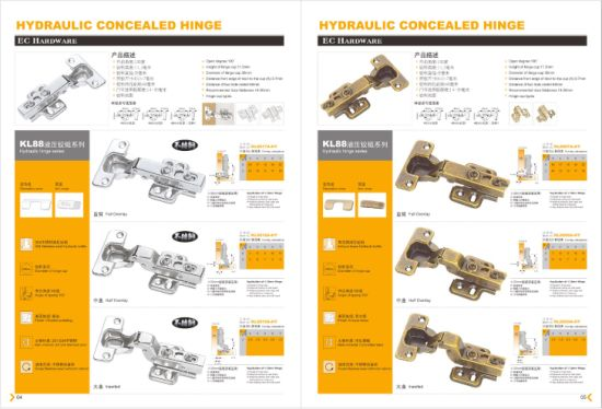 China steel concealed cabinet hinge manufacturer wide opening 0mm/165°