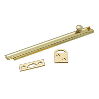 Door Security Solid Brass Slide Door Surface Bolt