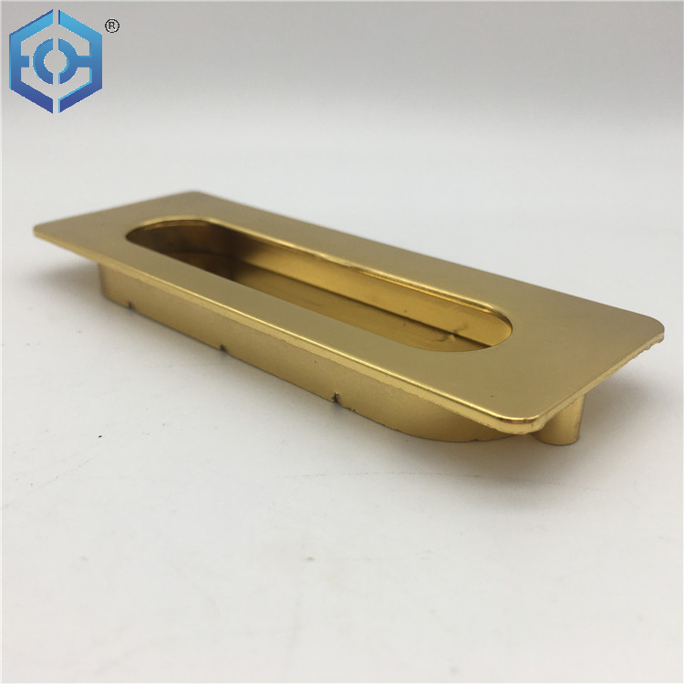 Zinc Alloy Drawer Hardware Kitchen Cupboard Sliding Cabinet Pull Concealed Door Handle
