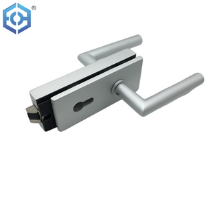 Popular Lockstitch Aluminum Allloy Key Glass Door Lock