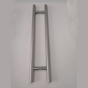 H Shape Hollow SSS Stainless Steel Modern Tube Glass Door Pull Handle