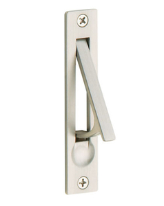 Satin Nickel Solid Forged Brass Edge Pull