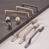 Zinc Alloy Kitchen Cabinet Hardware antique brass door handles