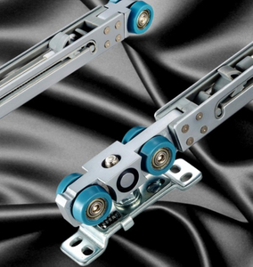 Sliding Door Buffer Damper Set with Screws Alloy Sliding Roller System for Wood Door
