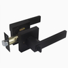 Black Square Zinc Alloy Heavy Duty Privacy Bedroom Tubular Lever Door Handle Locks