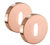 Copper Door Handles with Polished Copper Finish Levers on Rose H73016CP