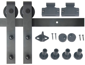 Mini Powder coated steel furniture sliding door hardware kits